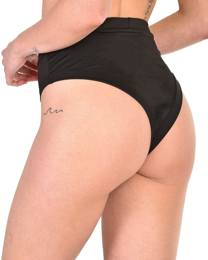 Womens Bottoms High Waisted Thong Booty Shorts-Side--Hannah---S
