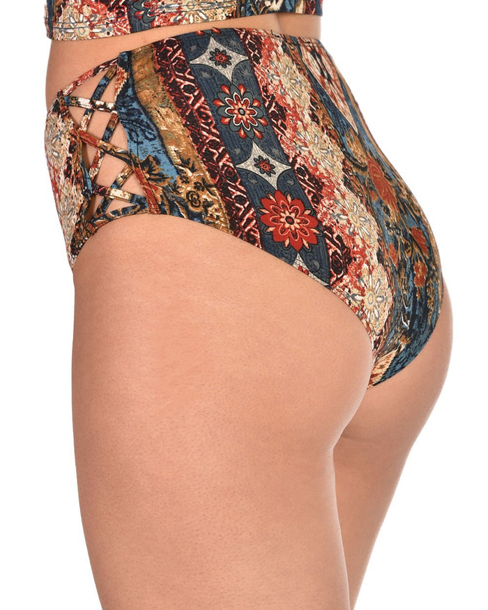 Womens Bottoms Into the Woods Booty Shorts-Side--Sami---S