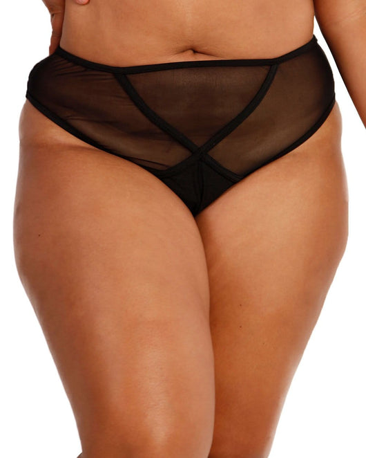 Midnight High Waisted Bottoms-Curve1-Front--Silvia---1X
