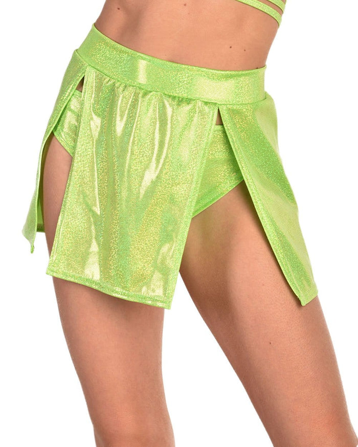 Rolita Couture Electric Amazon Skirt-Green-Front--Liberty---S