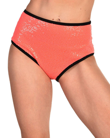 Technologic Neon Sequin High Waisted Bottoms