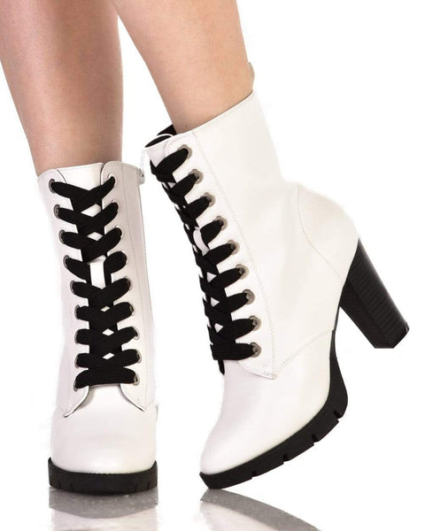 Heeled Combat Boots - iHeartRaves