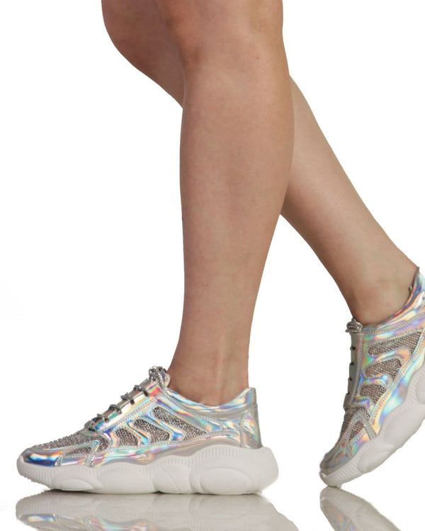 Star Light Holographic Sneakers-Iridescent-Side