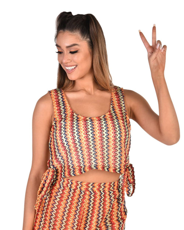 Desert Dreams Boho Crochet Tank Top-Front