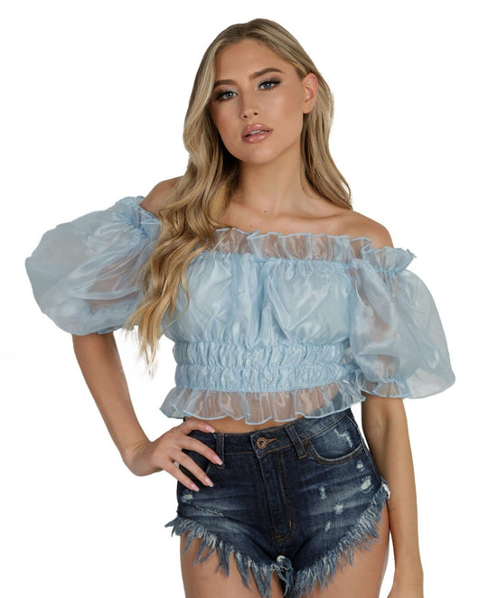 Spoiled AF Ruffle Crop Top-Baby Blue-Front--Liberty---S