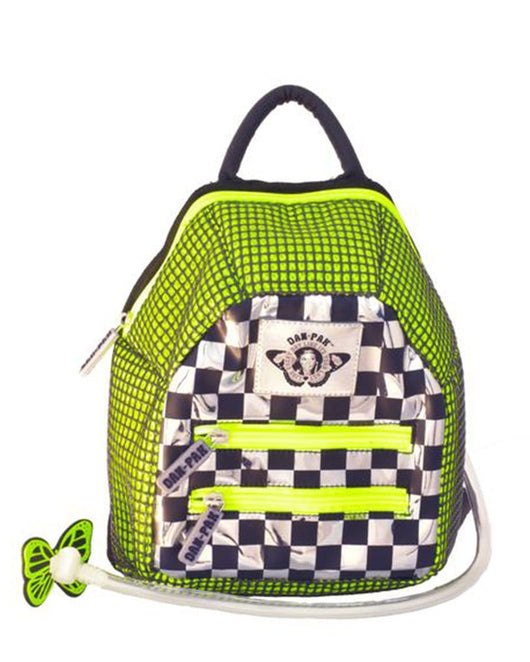 Dan-Pak Neon Checkered Hydration Pack-Front