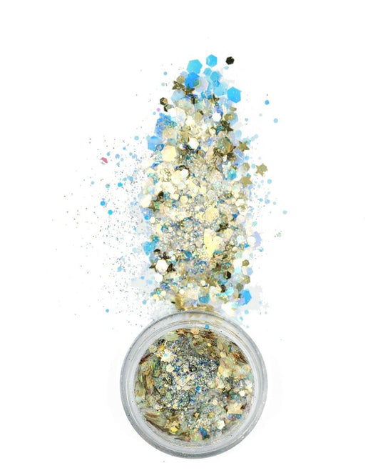 Lunautics Bubbly Glitter-Gold/Blue-Spill