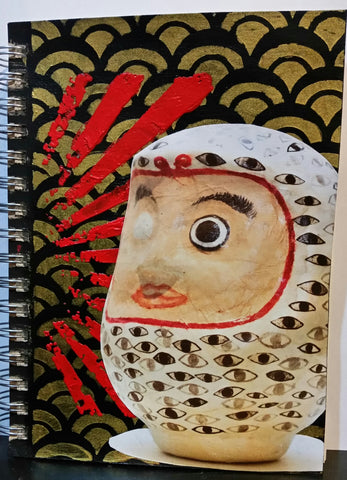 daruma mixed media notebook