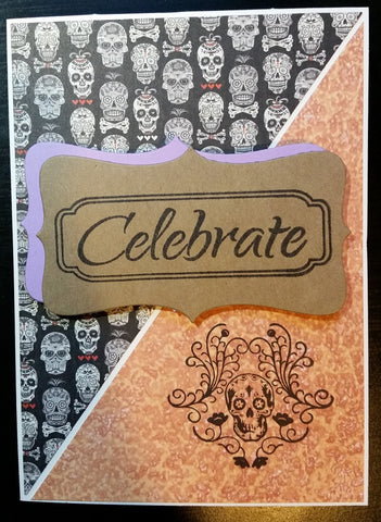 Day of the Dead greeting card - sugar skulls