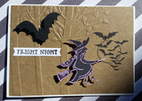 Halloween greeting card - Fright Night witch