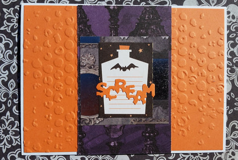 Halloween greeting card - orange 008