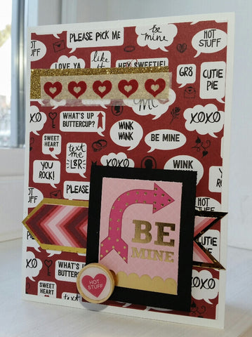 love greeting card - Be Mine