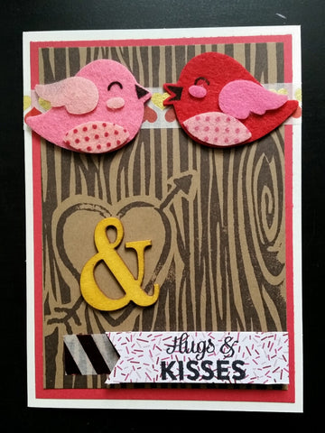 love greeting card - sitting in a tree