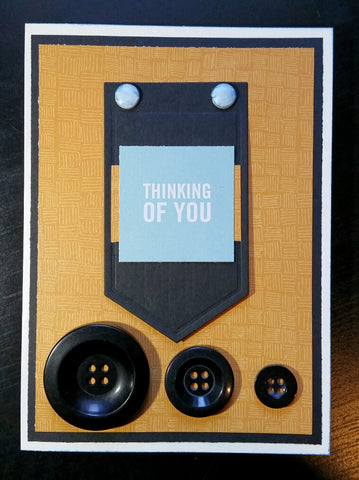 greeting card - black buttons