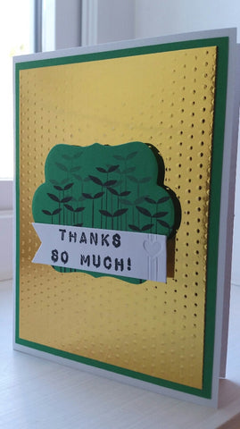 thank you greeting card - plants