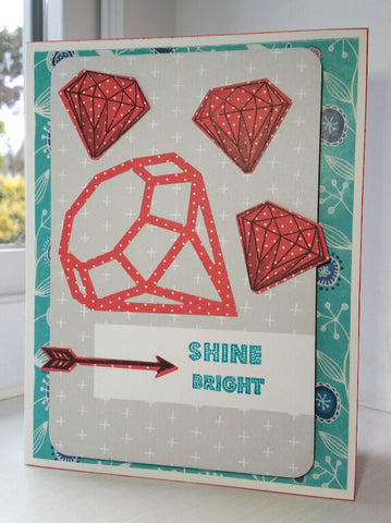 greeting card - pink diamonds