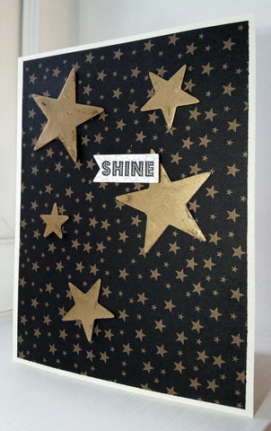 greeting card - gold stars