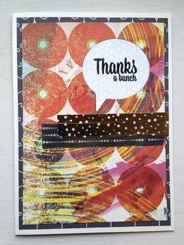 thank you greeting card - bold circles