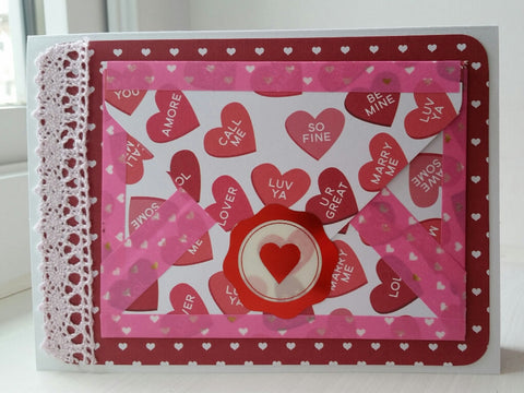 love greeting card - envelope