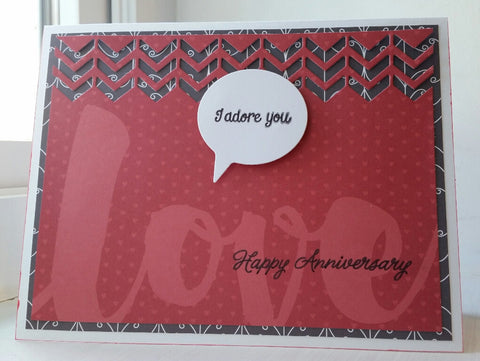 love greeting card - adore anniversary