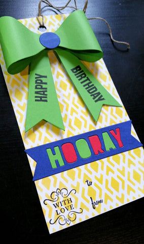 gift tag - birthday bow