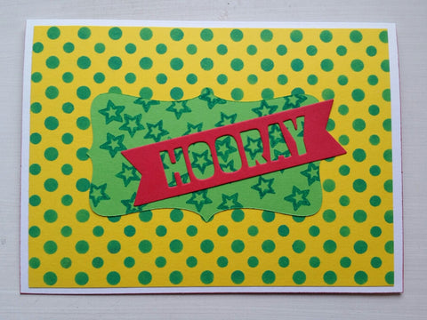 greeting card - bright hooray
