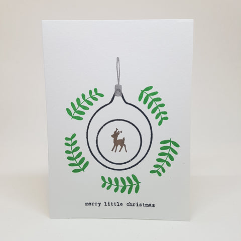 Christmas greeting card set - little deer
