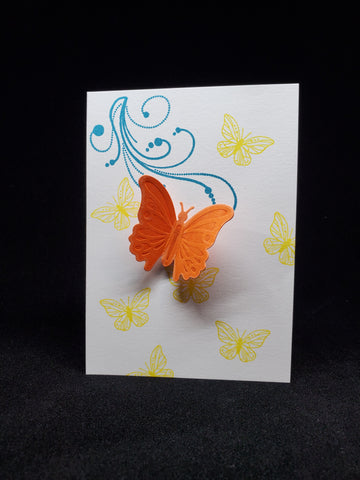 greeting card - bright butterflies
