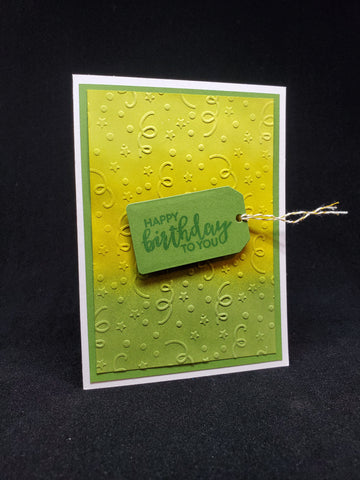 birthday card - ombre tag