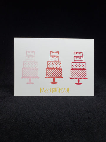 birthday card - fancy cakes