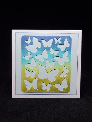 greeting card - cut out butterflies