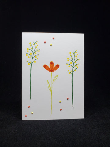 greeting card - layered flowers