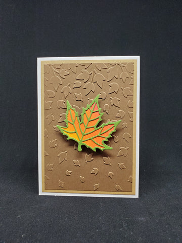 greeting card - ombre maple leaf