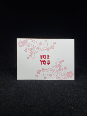 greeting card - blossoms for you