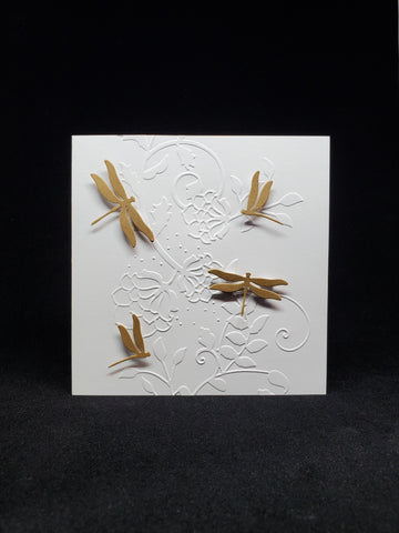 greeting card - dragonflies