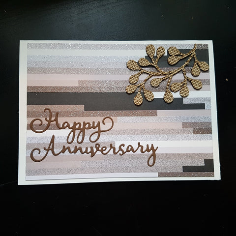 anniversary card - neutral foliage