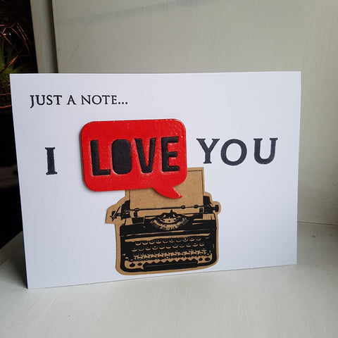 Valentine's Day card - love notes