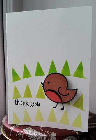 thank you card - spring bird