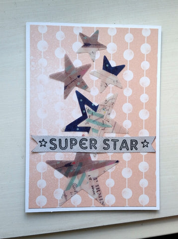 greeting card - super star