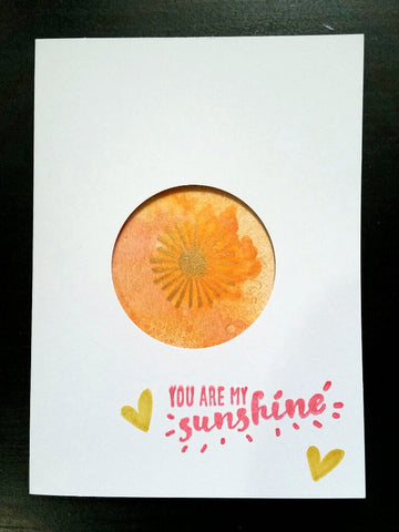 greeting card - gold and orange sunshine