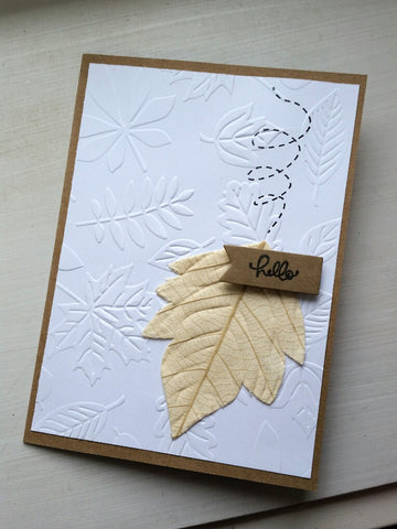 greeting card - falling leaves