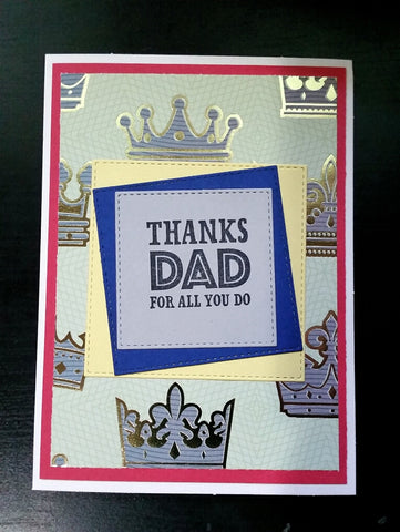 Father's Day card - crowns
