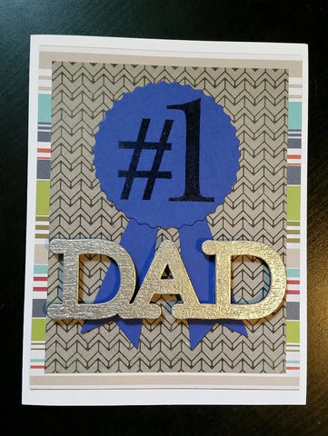 Father's Day card - #1 dad