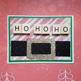 Christmas greeting card - Santa's belt