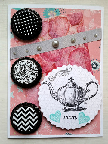 Mother's Day card - teapot
