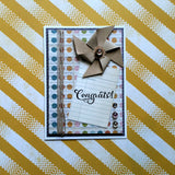 congrats pinwheel greeting card