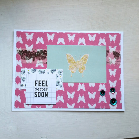 get well card - butterflies