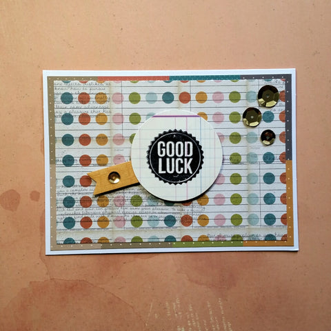 good luck card - dots
