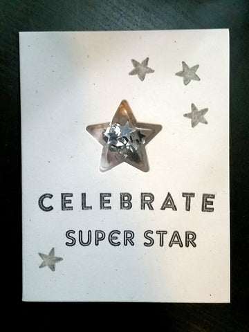 graduation card - super star