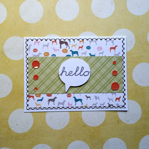 greeting card - bright dogs